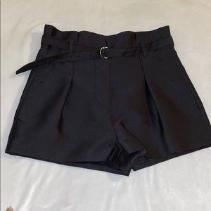 3.1 Phillip Lim Shiny black shorts 00 EUC